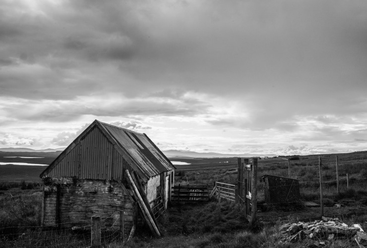 an old barn at Achmore village on the Isle of Lewis