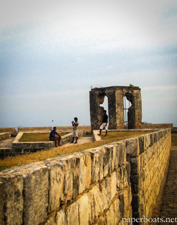 A quiet afternoon scene from 2013 at Jaffna fort, an LTTE stronghold during the later years of the Sri Lankan civil war.
